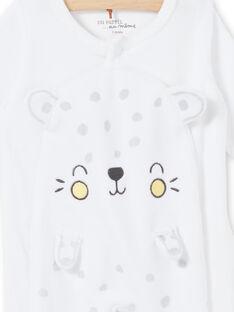 Weißer Leopardensamtrockensamtmantel mit samtgefressener Mischlingsgeburt LOU1GRE5 / 21SF05H2GRE000