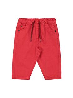 Rote Babyhose für Jungen FUJOPAN1 / 19SG1031PANF505