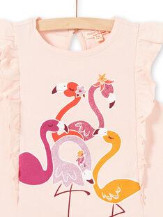 Tank-Top mit Rüschen und rosa Flamingos Druck LATERDEB1 / 21S901V1DEBD322