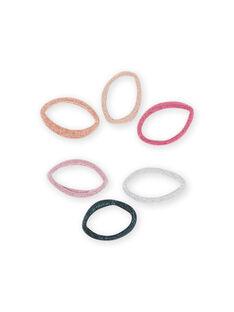 6 sortierte Gummibänder für Mädchen MYAJOELA6 / 21WI01S1ELAK008