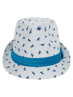 Kinderhut für Jungen mit Muster + Ripsband um den Hut JYOJACHAP1 / 20SI02B1CHAJ917