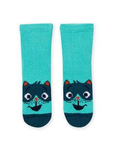 Baby Boy's Türkis Waschbär Socken MYUJOCHOB4 / 21WI1013SOQ209