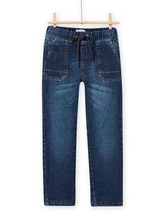 Fleece-gefütterte normale Jeans für Jungen MOPLAJEAN / 21W902O1JEAP274