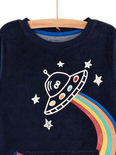 Pyjama-T-Shirt und Hose navy blau Kind Junge LEGOPYJSPA / 21SH125BPYJ705