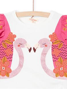 Kurzarm-T-Shirt, Flamingo-Druck mit Pailletten LATERTI2 / 21S901V2TMC001