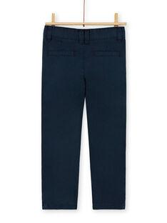 Chino navy blau Baumwolle Baumwolle Kind Junge LOJOPACHI2 / 21S90235PAN705
