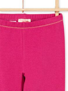 Dunkelrosa Leggings für Baby-Mädchen mit goldenen Details MYAJOLEG3 / 21WI0111CALD312