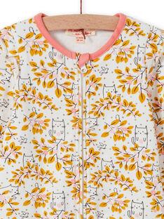 Baby Mädchen ungebleicht floral print Strampler MEFIGREAOP / 21WH1384GRE001