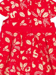 Bedrucktes Paillettenkleid für Babys Mädchen GINOROB2 / 19WG09V2ROBF521