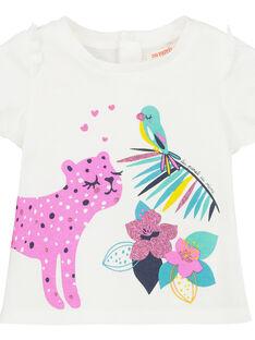 Kurzärmeliges T-Shirt für Mädchen FITUTI1 / 19SG09F1TMCA001