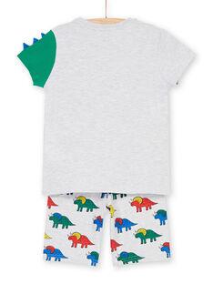 Grauer, melierter Schlafanzug mit phosphoreszierenden Details für Kinder und Jungen LEGOPYCALIN / 21SH12C7PYJJ920