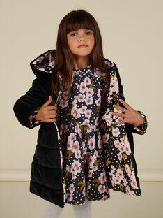 Wendbarer Samtparka mit Blumenmuster Kind Mädchen MAHIPARKA / 21W90165PARJ905