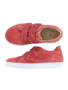 Girls' leather city trainers CFTENPINK / 18SK35W1D3G030