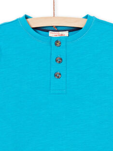 Türkisfarbenes T-shirt für Jungen MOJOTUN3 / 21W90211TMLC211