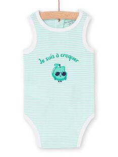 Weißer und grüner Baby-Jungen-Bodysuit LEGABODPOM / 21SH14G6BDL000