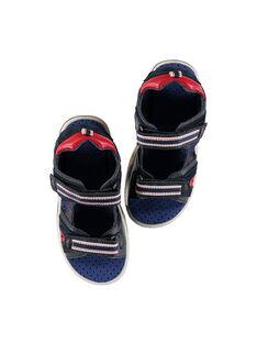 Sandalen aus zwei Materialien für draußen Jungen FGSANDSPOR / 19SK36D1D0E070