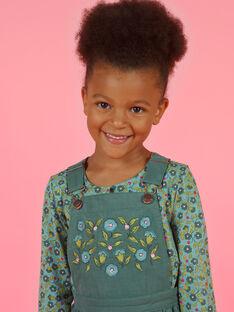 Khaki-Overallkleid für Mädchen MAKAROB4 / 21W901I4ROB626