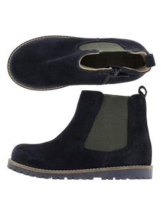 Boys' leather boots DGBOOTCHE1 / 18WK36T1D0D070