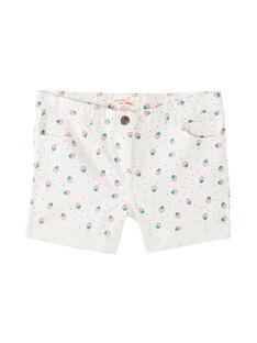 Jeans-Shorts mit Pünktchen- und Erdbeeraufdruck JAJOSHORT4 / 20S901T4D30001