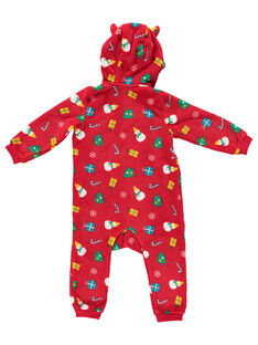 Weihnachtsüberpyjama mit Kapuze aus weicher Boa Baby, Kind und Erwachsener GEMISURNO / 19WH12T1D4SF505