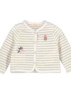 Bedruckte Baby-Weste aus Baumwolle für Mädchen FICUCAR / 19SG09N1CAR000