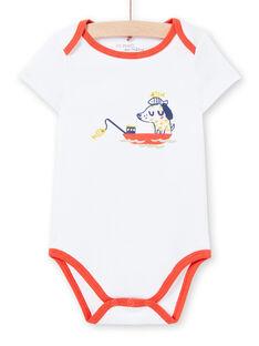 Weißer Baby-Jungen-Druck-Bodysuit LEGABODMAR / 21SH14G5BDL000