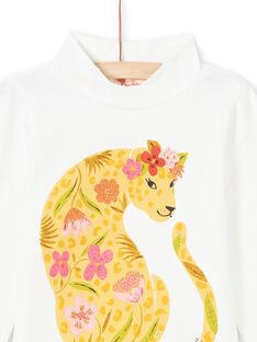 Baby Mädchen ecru Leopard Druck und Blumen Unterhosen MASAUSOUP / 21W901P1SPL001
