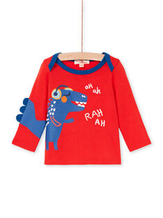 Rotes und blaues Baby-Jungen-T-Shirt LUCANTEE1 / 21SG10M1TMLF505