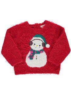 Baby girls' fancy knit sweater DICRAPUL1 / 18WG09R1PUL050