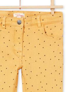 Senfköperhose mit Sternendruck für Mädchen MAJOPANT1 / 21W90123PANB106