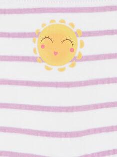 5er-Set rot, weiß und gelb gestreifte Shorts für Kinder und Mädchen LEFAHOTSEM / 21SH1125SHY000