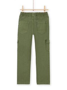 Cargohose Junge grün LOJOPAMAT2 / 21S90242PANG631