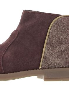 Girls' leather boots DFBOOTMIX2 / 18WK35TED0D503