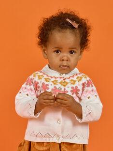 Baby Mädchen ecrufarbene Strickjacke MISAUCAR2 / 21WG09P2CAR001