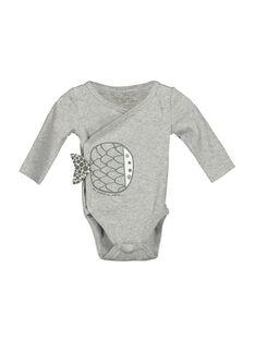 Unisex-Body mit langen Ärmeln für Babys FOU1BOD1 / 19SF7711BOD943