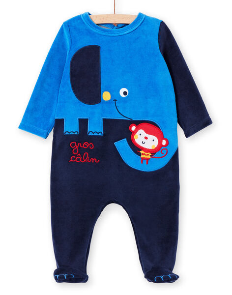 Nachtblauer Strampler Baby Junge LEGAGRELEF / 21SH1454GRE713