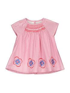 Gestreiftes Babykleid für Mädchen FICOROB1 / 19SG0981ROB030
