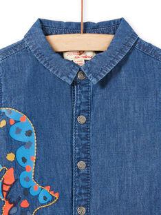 Baby Boy Langarm Dinosaurier Denim Shirt MUPACHEM / 21WG10H1CHMP274