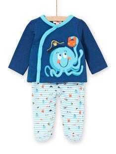 Schlafanzug für Jungen aus gebürstetem Fleece von Octopus LEGAPYJPIE / 21SH1451PYJC230