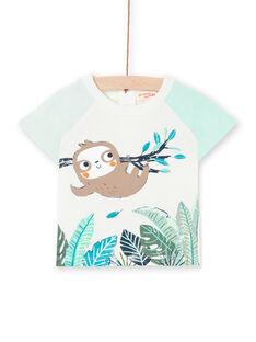 T-shirt ecru baby boy LUVERTI2 / 21SG10Q2TMC001