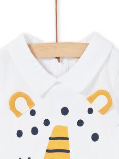Baby-Junge-Bodysuit aus weißer Baumwolle LUBALBOD / 21SG10O1BOD000