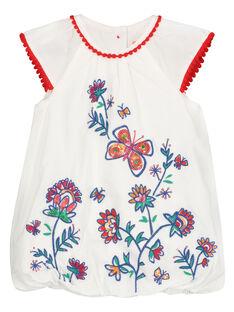 Ausgestelltes Babykleid mit Stickerei für Mädchen FITOROB2 / 19SG09L2ROB000