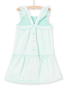 Mintfarbenes Kleid für Mädchen LAVEROB5 / 21S901Q5ROBG621