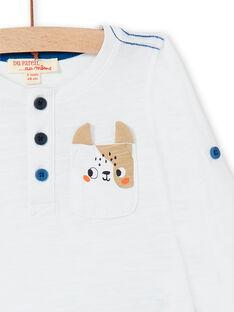 Weißes T-shirt baby boy LUJOTUN2 / 21SG1035TML000