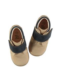 Halbstiefel aus Leder für draußen Babys Jungen FBGBOTHER / 19SK3841D0F080