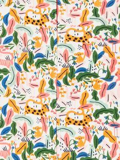Dschungel gedruckt grün und ecru Gehrock Mädchen LEFIGREJUN / 21SH1352GRE001