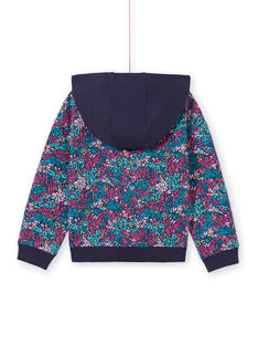 Kapuzen-Jogging-Top für Kinder mit Blumendruck MAJOHAUJOG4 / 21W90114JGHC205