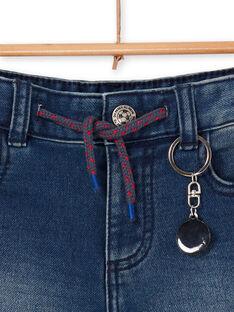 Blaue Jeans Bermudashorts Junge Kind LOHABER1 / 21S902X2BERP274