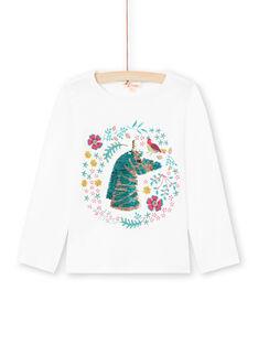Langarm-T-Shirt für Mädchen mit wendbarem Pailletten-Einhorn-Motiv MATUTEE2 / 21W901K4TML001