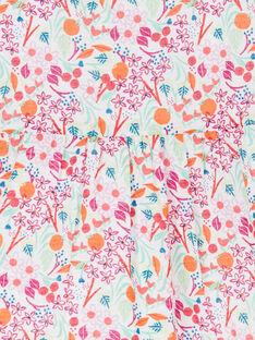 Rosa und orangefarbene Bluse mit Blumendruck für Babymädchen LIVICHEM / 21SG09U1BLU000